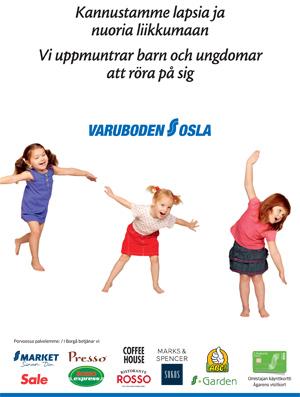 Varuboden-Osla tukee lasten ja nuorten liikuntaa