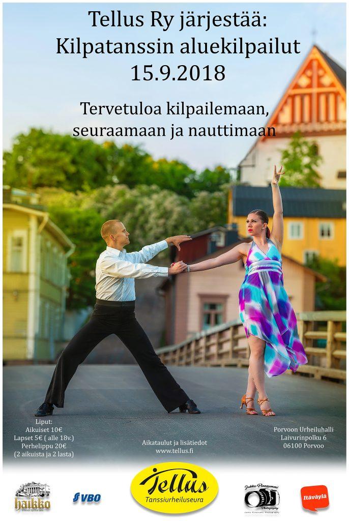 Kilpatanssin aluekilpailut Porvoossa 15.9.2018, Tellus ry